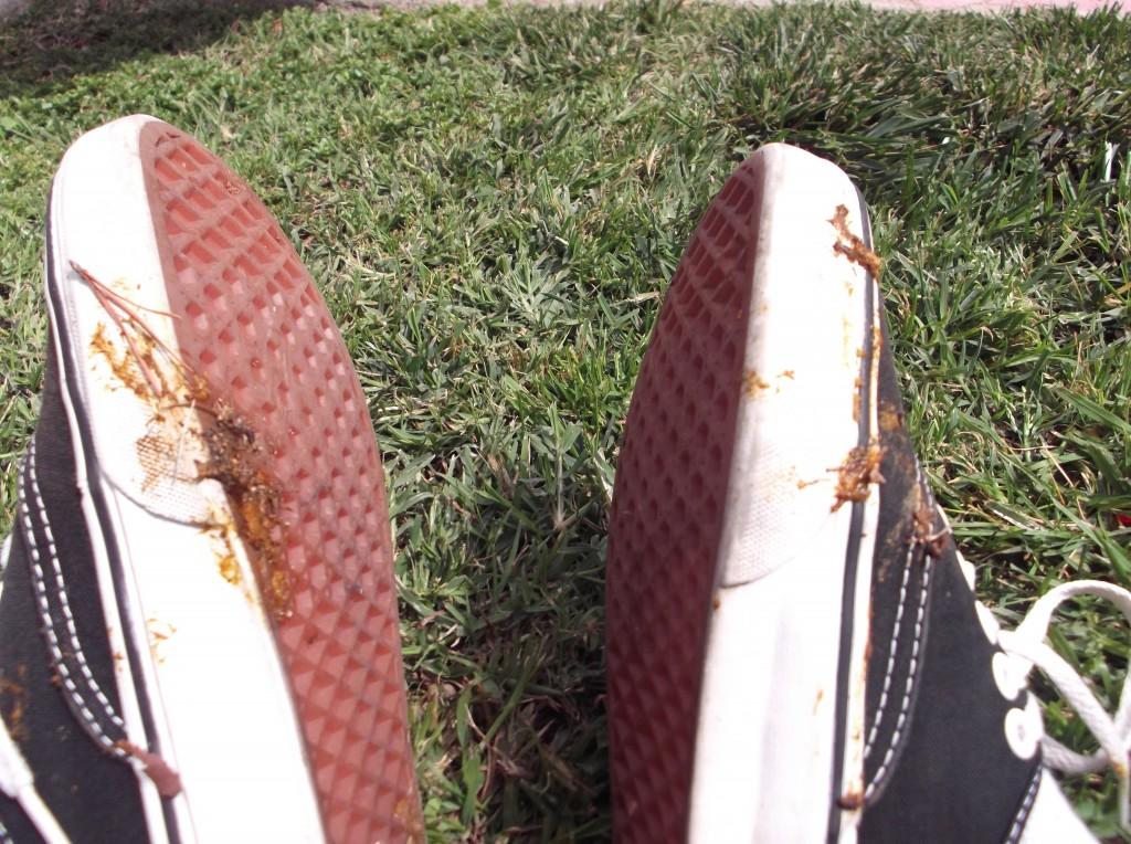 WD-40 ajuda a limpar coco na sola do tenis
